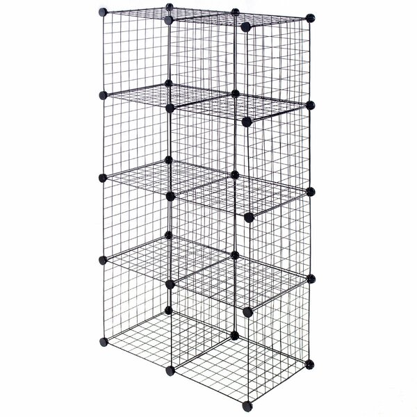 Bryce Grid Wire Cube Bookcase by Rebrilliant