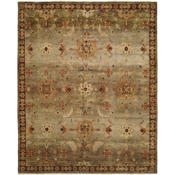 Chalmers Hand-Knotted Brown Area Rug by Meridian Rugmakers
