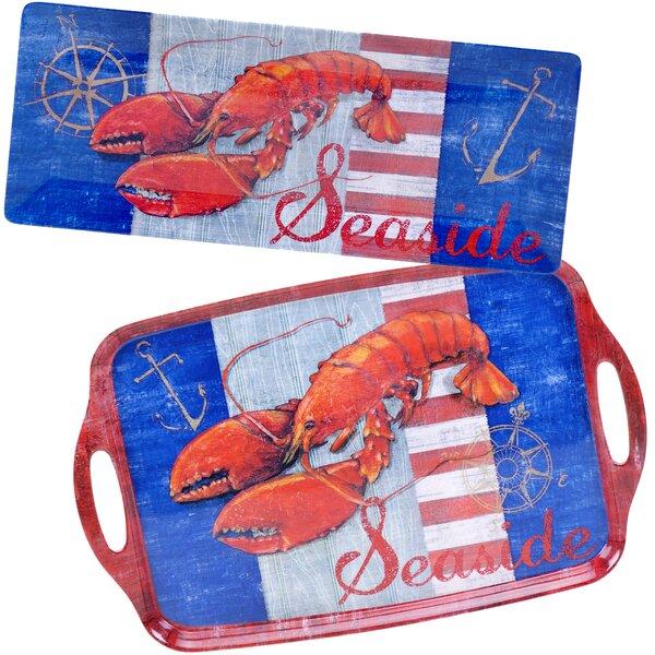 Maritime Lobster 2 Piece Melamine Platter Set by Certified International