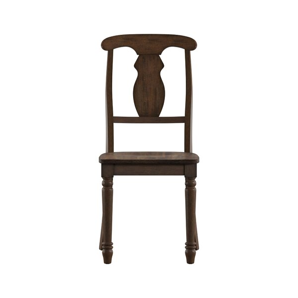 Petrucci Napoleon Back Solid Wood Dining Chair (Set of 2) by Alcott Hill