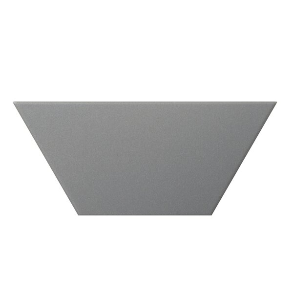 Code Trapezoid 4 x 9 Porcelain Field Tile in Gray by Emser Tile