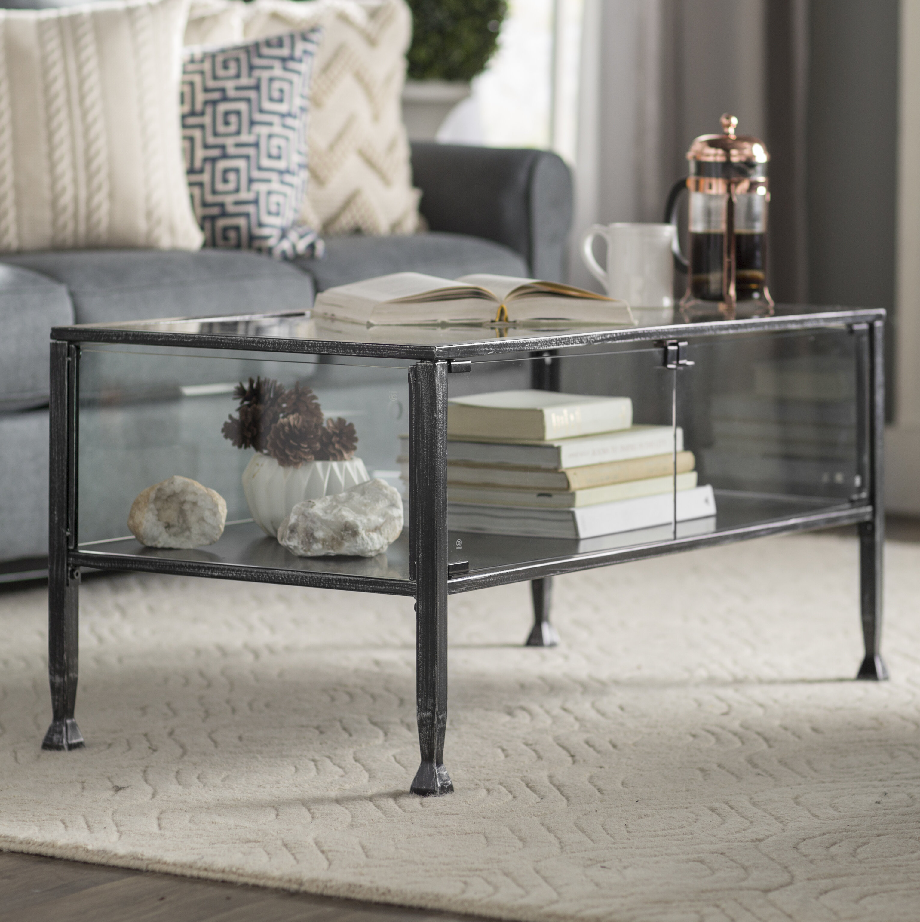 Three Posts Aldridge Terrarium Coffee Table U0026 Reviews | Wayfair