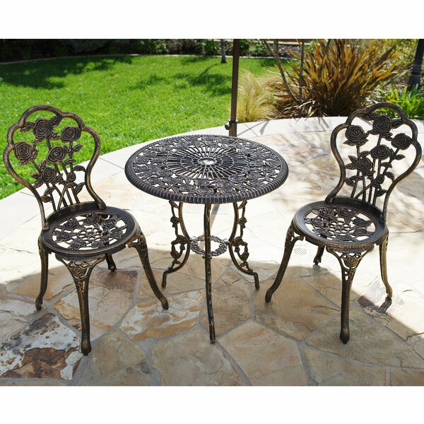 Oleson 3 Piece Bistro Set by August Grove