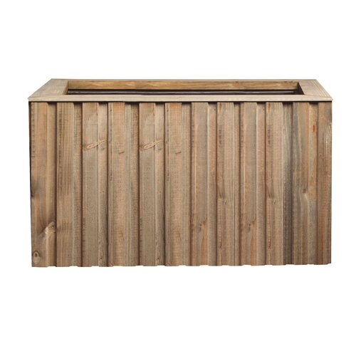 Connally Wooden Self-Watering Planter Box Union Rustic Colou