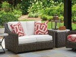 Cypress Point Ocean Terrace Loveseat with Cushions by Tommy Bahama Outdoor