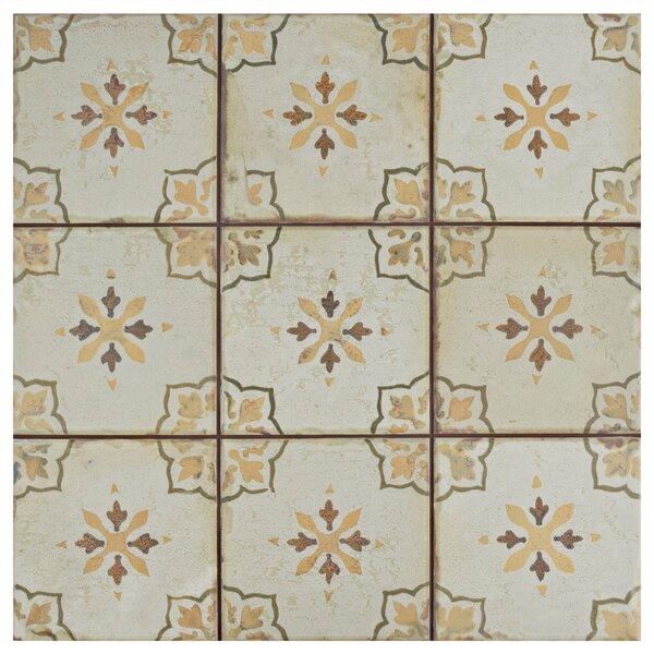Rioja 13 x 13 Ceramic Field Tile in Orange/Beige by EliteTile