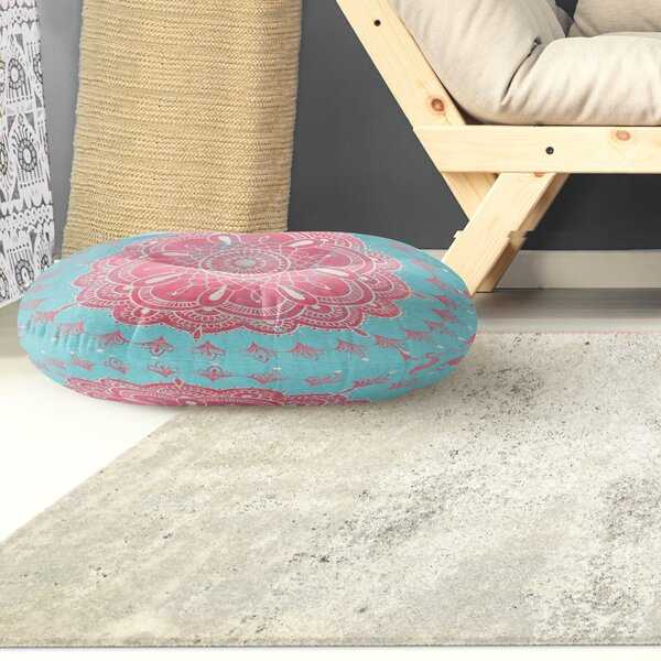 Boho Bloom Round Floor Pillow by KAVKA DESIGNS