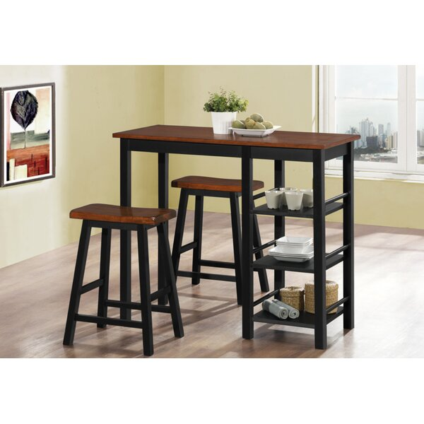 Coronel Wood 3 Piece Dining Set by Millwood Pines