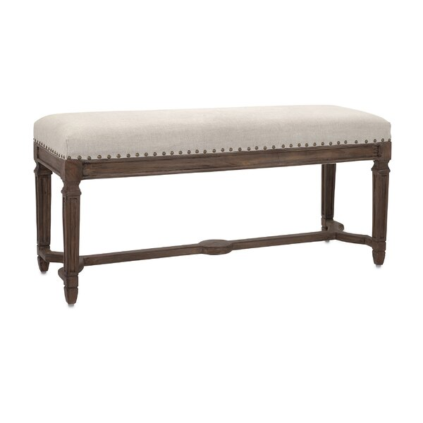 Pullins Glamorous Upholstered Bench by Gracie Oaks