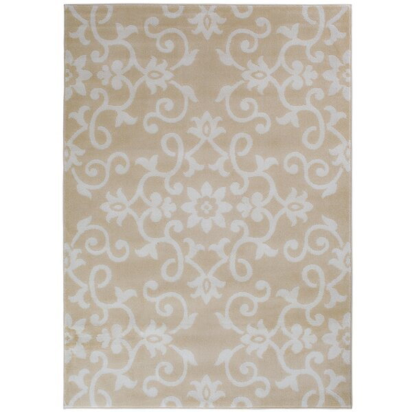 Eibhlin Snow/Buff Beige/Cream Area Rug by House of Hampton