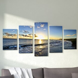 U0027Day Breaku0027 5 Piece Photographic Print On Wrapped Canvas Set