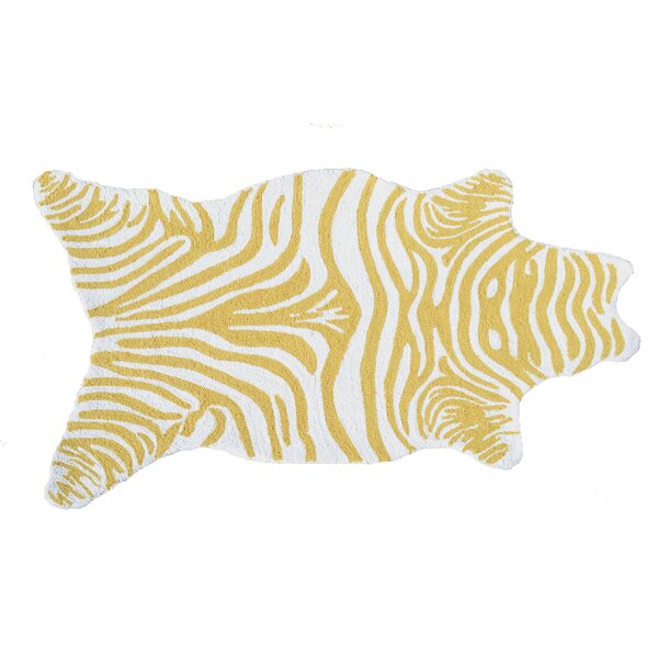 Hand-Woven Yellow Outdoor Area Rug by The Conestoga Trading Co.