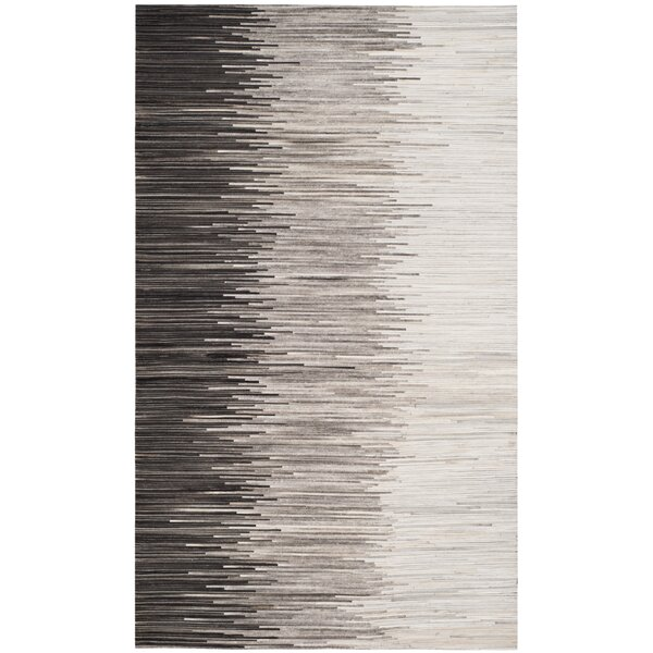 Patricio Leather Hand Tufted Charcoal Area Rug by 17 Stories
