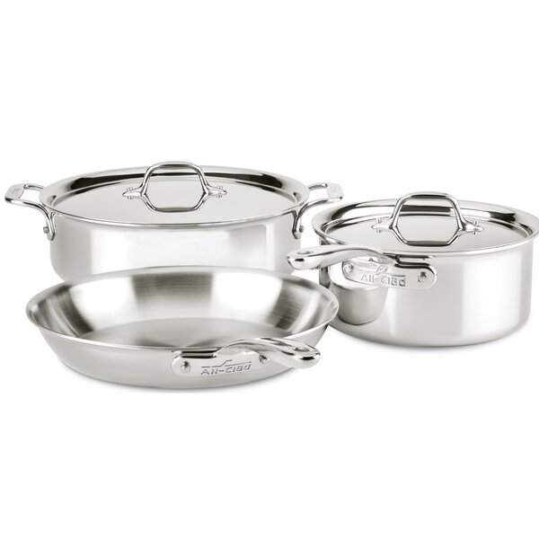 D3 Compact 5 Piece Stainless Steel Cookware Set by All-Clad
