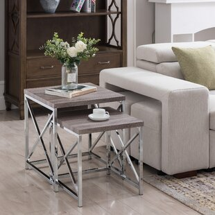 Compare prices Aliza 2 Piece Nesting Table Set By Orren Ellis
