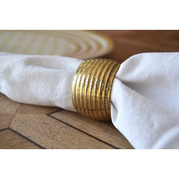 Textured Napkin Ring (Set of 6) by Rosecliff Heights