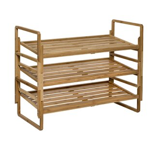 Compare & Buy Nesting Bamboo 12 Pair Shoe Rack By Honey Can Do