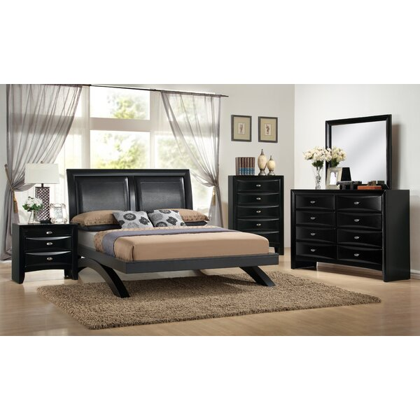 Blemerey 5 Piece Platform Bedroom Set by Roundhill Furniture