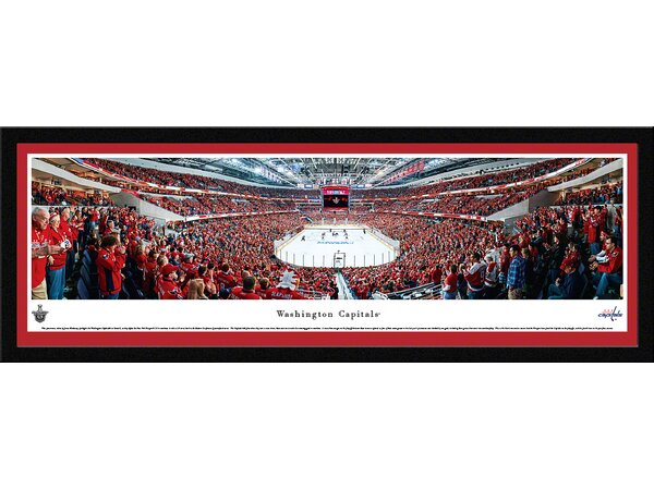 NHL Washington Capital - End Zone by James Blakeway Framed Photographic Print by Blakeway Worldwide Panoramas, Inc