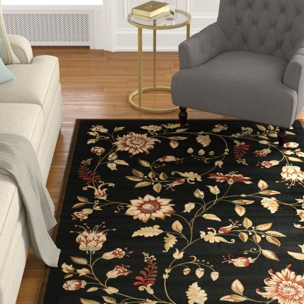 Taufner Black Area Rug by Astoria Grand
