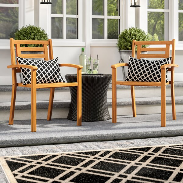 Cadsden Stackable Arm Chair (Set Of 2) By Three Posts