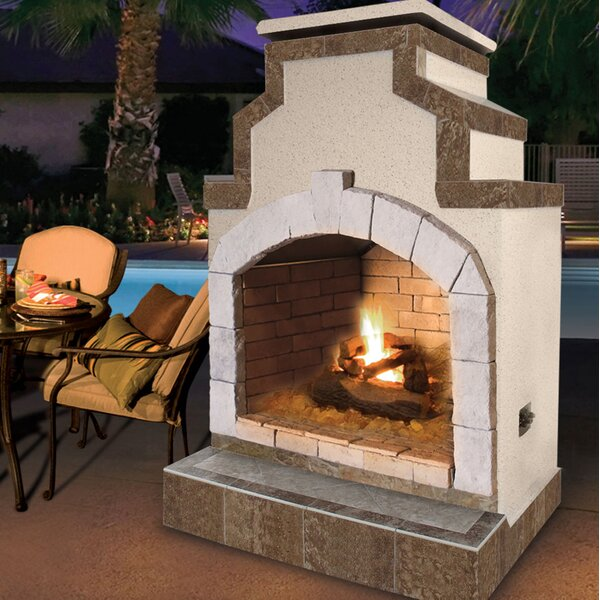 Propane Gas Outdoor Fireplace by Cal Flame
