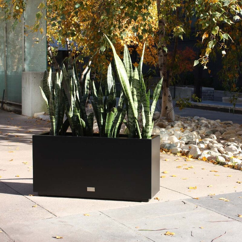 Veradek Metallic Series Long Galvanized Steel Planter Box