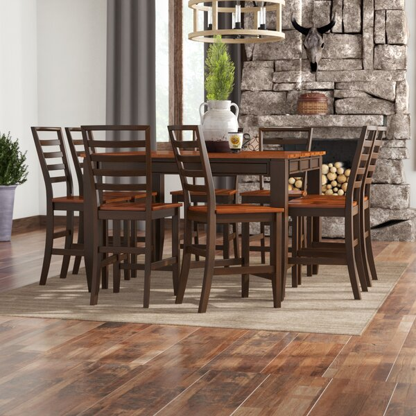 Hidalgo 9 Piece Counter Height Solid Wood Dining Set by Millwood Pines