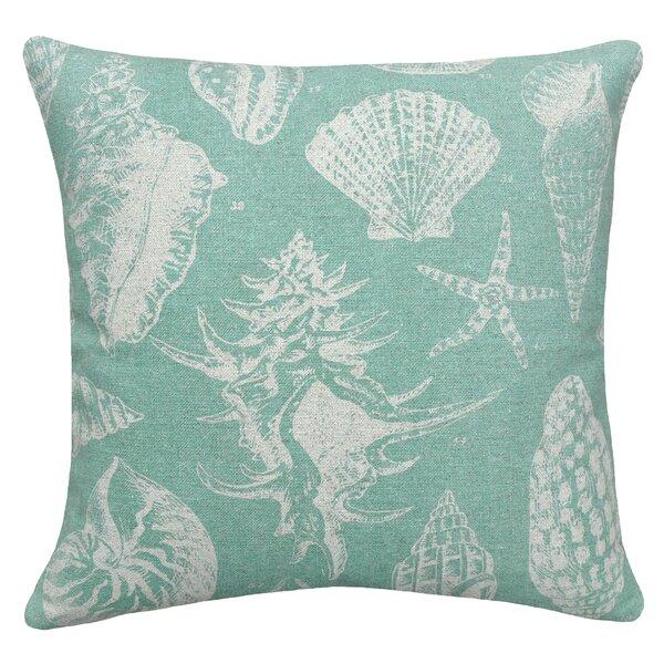 Coastal Seashells Linen Throw Pillow by 123 Creations