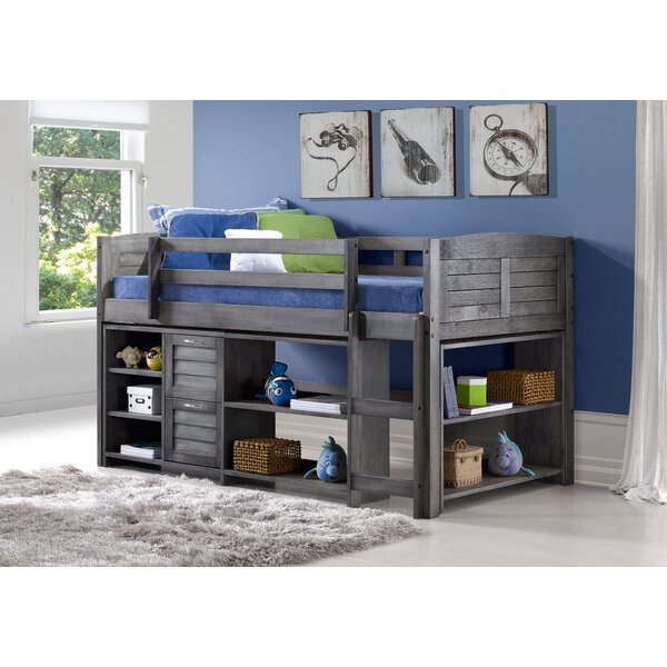 Low Loft Bed With 2 Drawers by Harriet Bee