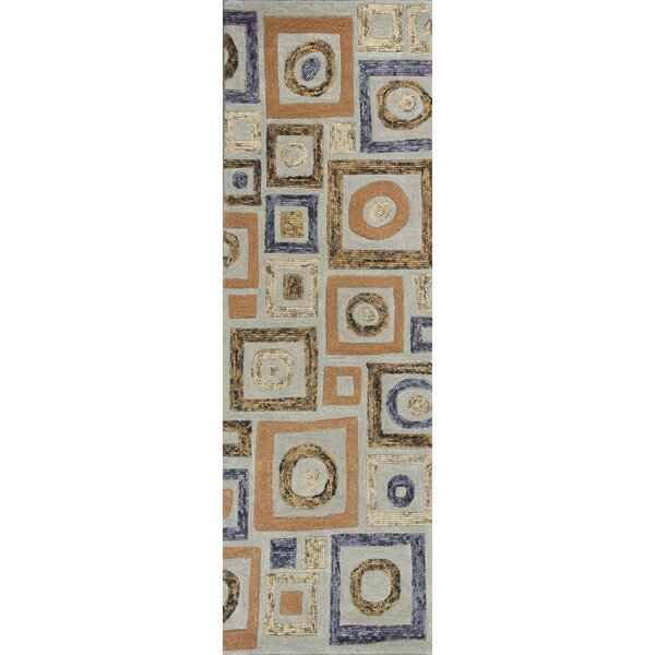 Roosendaal Cityscape Blue Area Rug by Bloomsbury Market