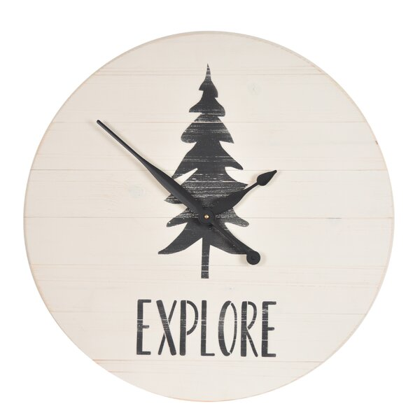 Oversized Louie Explore 24 Wall Clock by Millwood Pines