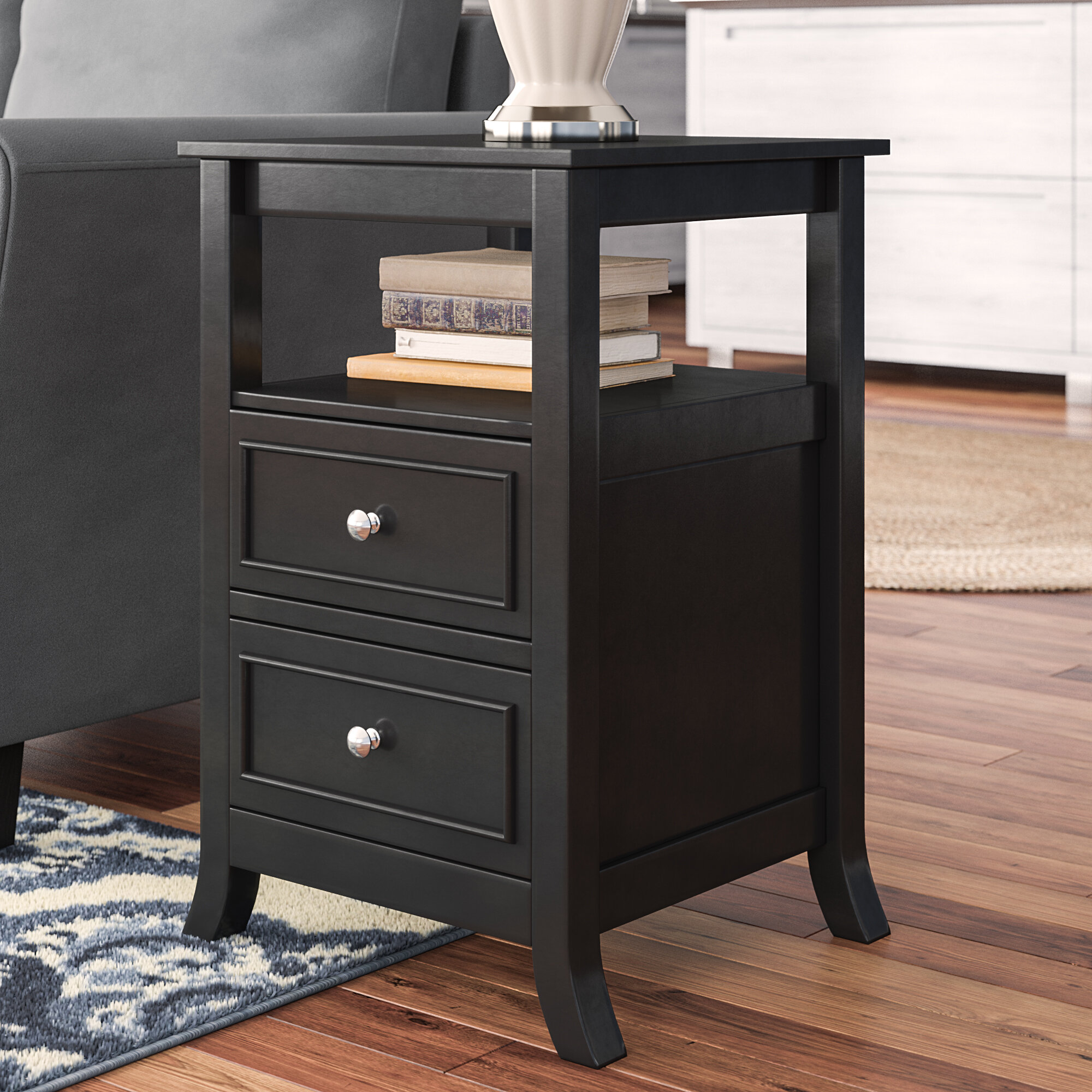 End Side Tables With Drawers Wayfair
