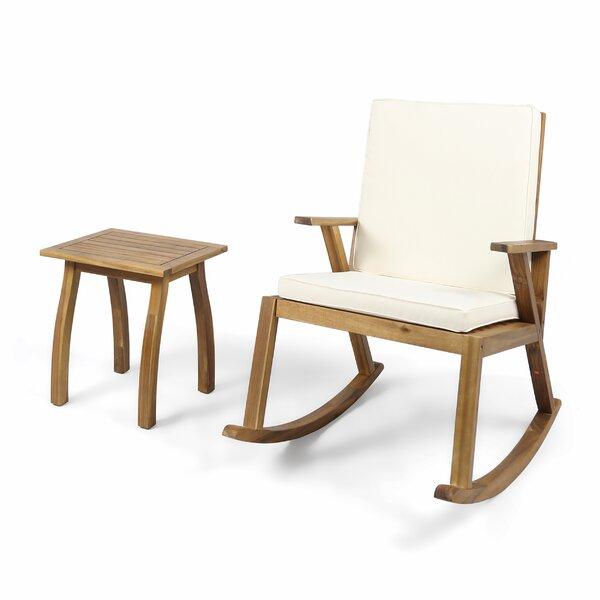 Dublin 2 Piece Teak Seating Group with Cushion by Gracie Oaks