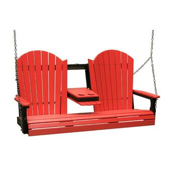 Ebern Designs Rosalin Adirondack Porch Swing Wayfair Ca