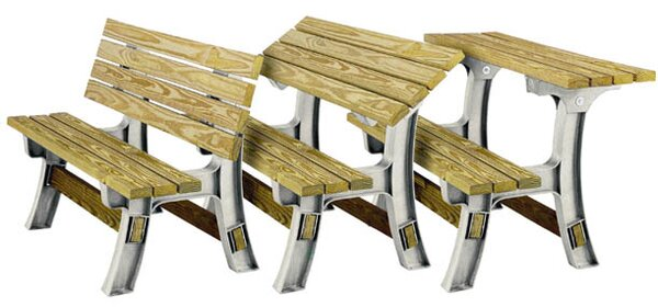 Flip-Top Plastic Convertible Bench by Hopkins