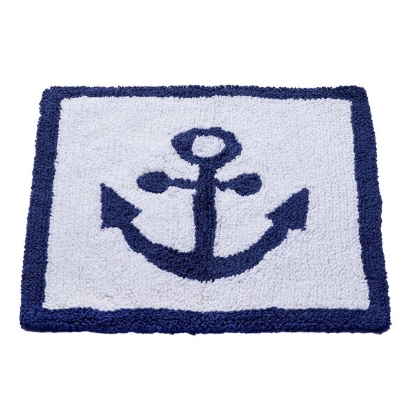 Anchor Hand-Woven White/Blue Area Rug by Home Furnishings by Larry Traverso
