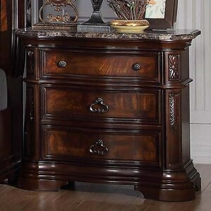Fletcher 3 Drawer Nightstand by Astoria Grand