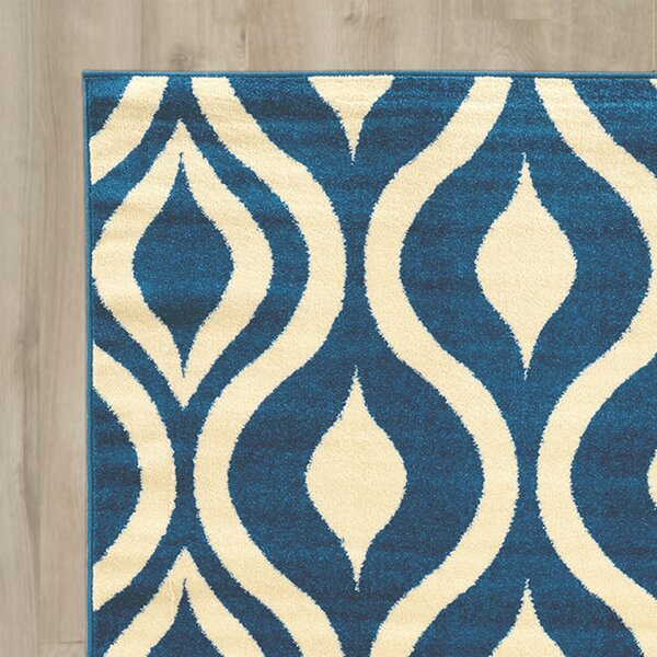 Tebikerei Blue Area Rug by Wrought Studio