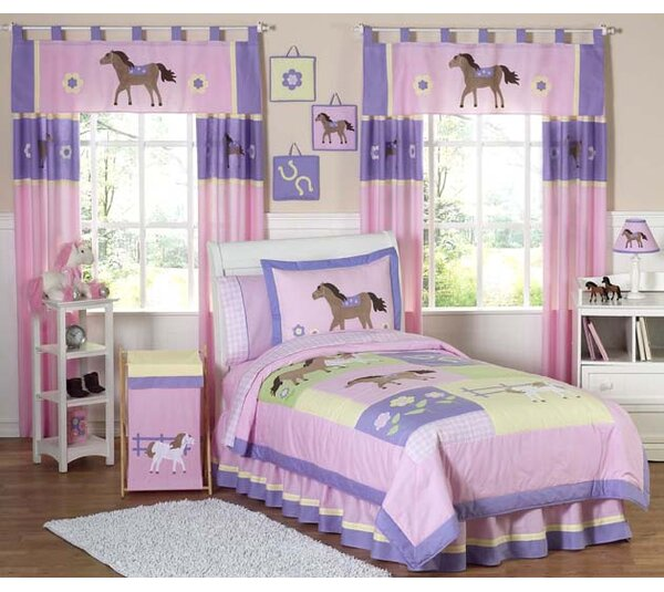 Pony 3 Piece Full/Queen Comforter Set by Sweet Jojo Designs