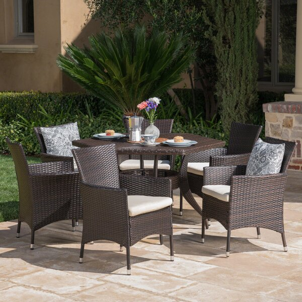 Seager Outdoor 7 Piece Dining Set with Cushions by Ivy Bronx