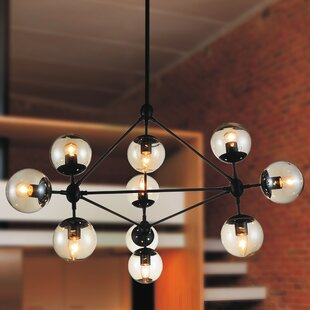Find a Glow 10-Light Chandelier By CWI Lighting
