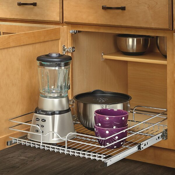 21 x 22 Roll Out Wire Basket Cabinet Organizer Rack by Rev-A-Shelf