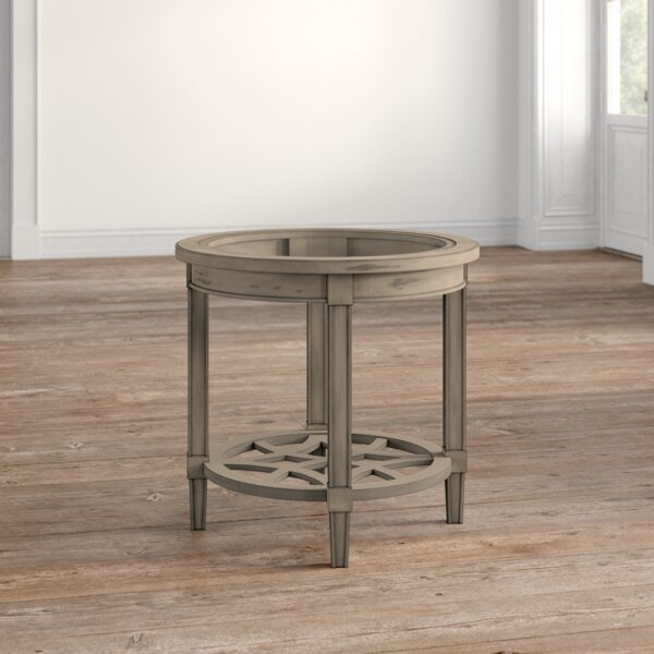 Mason Glass Top End Table With Storage By Darby Home Co
