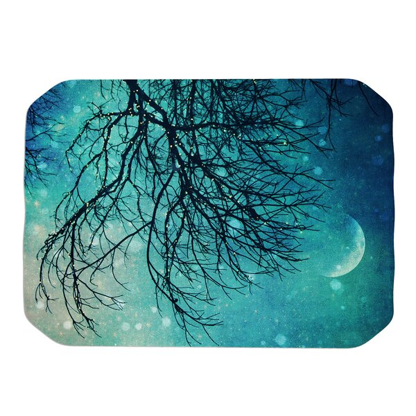 Winter Moon Placemat by KESS InHouse