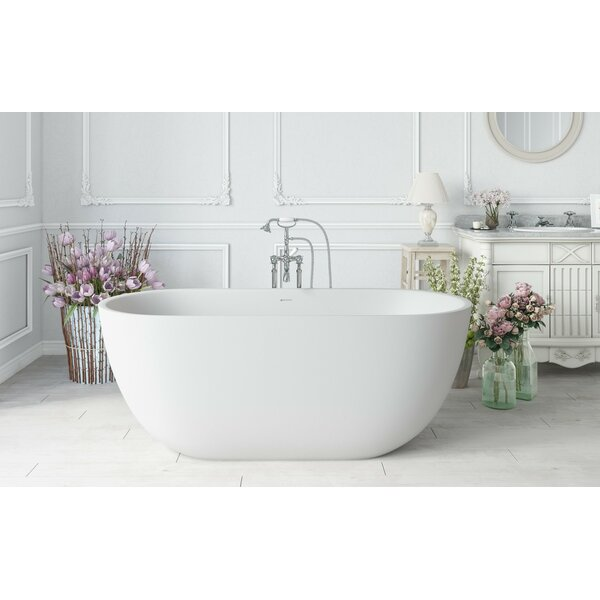 PureScape AquateX™ 67 x 34 Freestanding Soaking Bathtub by Aquatica