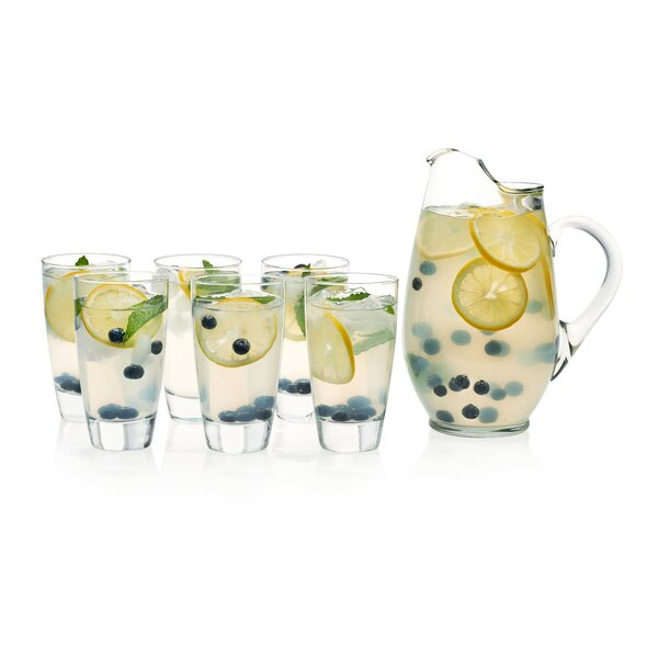 Classic Glass Entertaining 7 Piece Beverage Serving Set by Libbey