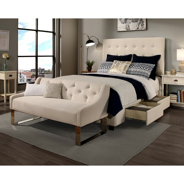 Mirando 2 Drawer Upholstered Storage Platform Bed by Canora Grey