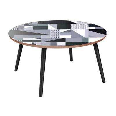 Ira Coffee Table Brayden Studio Table Top Color: Walnut, Table Base Color: Black