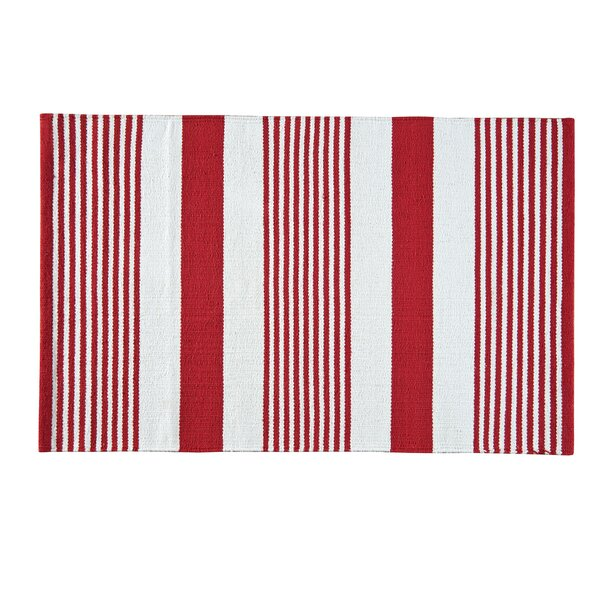 Red & White Area Rug by Birch Lane™